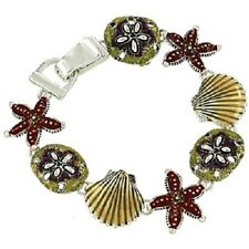 Starfish Bracelet Magnetic Clasp Sand Dollar MULTI SILVER Beach Surfer SeaShell