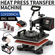 8 In 1 Combo Heat Press Machine Digital Transfer Sublimation T Shirt Mug Hat