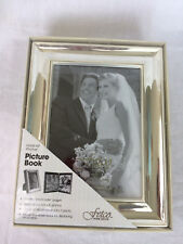 "Silver Plate Easel Back 5"" x 7"" Wedding Photo Album Holds - 64 Photos 4"" x 6"""