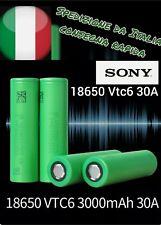 MURATA US18650 VTC6 EX SONY senza pin BATTERIA ORIGINALE TESTA PIATTA SIGARETTA