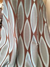 """Designer Heavy Quality Curtain Fabric Duck Egg Chocolate 60"""" Wide 40 Metre Roll"""