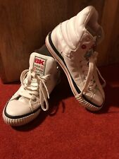 British Knights BK Atoll white red Leather high tops UK size 3/EU 35/US 4.5