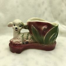Vintage Ceramic LAMB SHEEP Colorful Planter