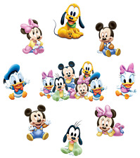 BABY MINNIE MICKEY MOUSE PLUTO DONALD DAISY BABIES  STICKER WALL DECAL  LOT MB