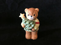 Lucy & Me Little Boy Bear Holding Christmas Tree Lucy Rigg ENESCO 1985