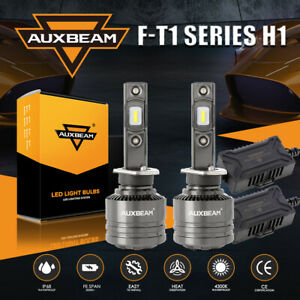 2X AUXBEAM H1 LED Headlight Kit 70W 8000LM Bulbs High Power 4300K Canbus Decoder