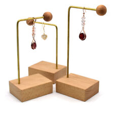Wood Jewelry Holder Stand Organizer Earrings Hanging Stand Organizer Holder