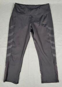 Medium Reebok Crossfit Speedwick Womens Black Capri Cropped Athletic Leggings