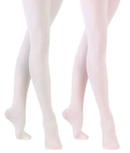 Sock Snob - 1 Pair Girls and Adult Footed Ballet Dance Tights in White or Pink
