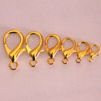 Wholesales 10-21mm 7 Colors Lobster Clasp Connector Jewelry Finding Hooks H