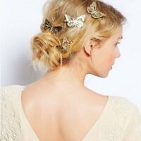 Butterfly Hair Clips Girls Retro Women Hairpins Vintage Gold Silver Cilp Fashion