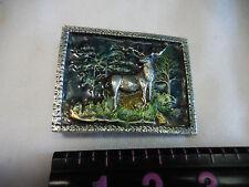 Deer in Forest belt buckle - detailed - 2014
