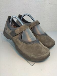 Dansko Edda Womens Suede Comfort Mary Jane Shoes Slate Gray Sz Euro 40 US 9.5