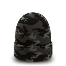 New Era Black & Grey Camo Cuff Knit Beanie -New w/Tags -Top Quality Item & Brand