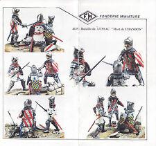 FONDERIE MINIATURE - 4935 - BATAILLE DE LUSSAC DIORAMA 4 FIGURINI - 54mm NUOVO