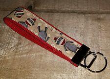 Handmade Sock Monkey Key Fob Key Chain Wristlet