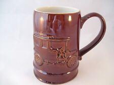 "Vintage McCoy ""1906 White Limousine"" Brown Tankard Large Mug 1975"