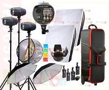 1600W Studio Strobe Flash Light Kit 4 x 400W Fan Cooled Monolight Lighting