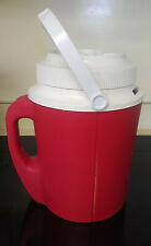 New listing Vtg Rubbermaid Red Double Handle 1-Gallon Plastic Water Jug/Cooler Gott #1524