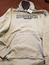 Hard Rock Cafe San Diego, Gray w/ Navy Hooded Sweatshirt, X-Large, Vintage, BNWT