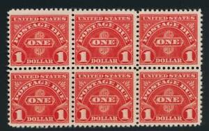 UNITED STATES (US) J77 FINE MNH POSTAGE DUE. BLOCK OF 6