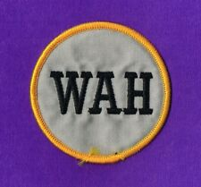 OAKLAND A'S 1995 WALTER A. HAAS  -WAH -  MEMORIAL SLEEVE PATCH