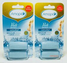 Amope Pedi Perfect Wet & Dry Regular Coarse Roller Head Refills 4 Refills
