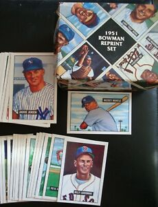 1951 BOWMAN BASEBALL REPRINT SET (324) CARD COMPLETE FACTORY BOXED SET MANTLE