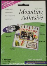 Therm O Web 'MOUNTING ADHESIVE SHEETS' 108x140mm 4pk Double-sided Adhesive Craft