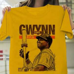San Diego Padres MLB Baseball T shirt Tony Gwynn Cali Skyline Gold Funnny Gift