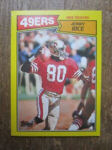 1987 Topps Football Box Back Jerry Rice Card
