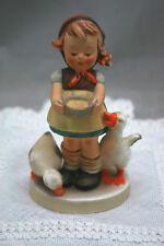 "Vntg Hummel Goebel 1948 Girl Feeding Ducks 197 2/0 4.5"" Tall"