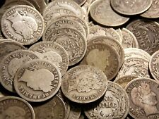Roll of 50 Barber Dimes 10c $5.00 Fv 90% Silver *Average Circulated* Ecc&C, Inc.