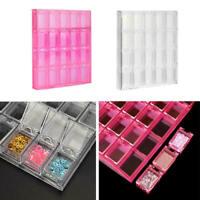 Empty 20 Slots Nail Art Storage Container Box Case Tip Rhinestone Gems Organizer