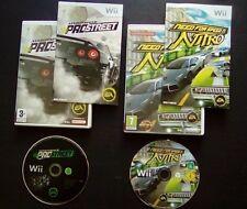 NEED FOR SPEED PROSTREET + NITRO : LOT 2 JEUX Nintendo Wii (COMPLET envoi suivi)