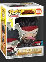 Funko Pop Hero Killer Stain #636 My Hero Academia NYCC 2019 Fall Convention new
