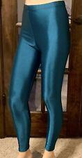 VTG 80s Body Co Con workout shiny Wet Nylon Spandex Running Pants Leggings S