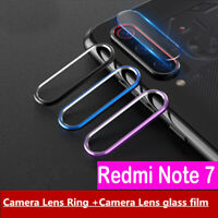 For Xiaomi Redmi Note 7 Back Camera Protector Lens Case Ring Cover + Glass Sy