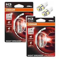 H3 OSRAM Nightbreaker Unlimited - 2 free LED T10/W5W