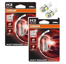 H3 OSRAM Nightbreaker Unlimited - 2 free LED T10/W5W