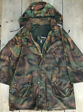 RAREST BARBOUR A90 JACKET MILITARY DPM CAMO BRITISH ARMY WAXED JACKET COAT 42