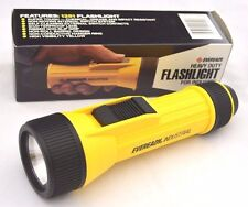 VINTAGE Eveready HEAVY DUTY Yellow FLASHLIGHT 1990s MODEL 1251 Made USA NEW 8""