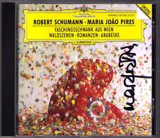 Maria Joao PIRES Signed SCHUMANN Waldzenen Arabeske Faschingsschwank aus Wien CD