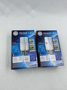2x Bulbs GE Reveal LED Bright Stik Light Bulb  36457 60w/10w 2 Boxes 4 Light