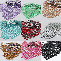Lots 1000Pcs Sparkling Resin Rhinestone Buttons Flatbacks Charms Beads 2mm/3mm