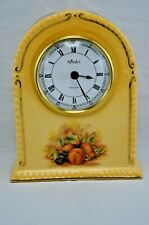 AYNSLEY ORCHARD GOLD MANTLE CLOCK