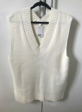 H&M Ribbed V Neck Knit Slip Over Vest BNWT Sold Out Everywhere Size M