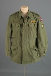 Vtg Men's 1957 US Army M-51 Field Jacket w 5th Army Patch Small Long 50s Vtg