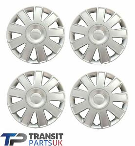 """FORD TRANSIT CONNECT 15"""" WHEEL TRIMS 2009 - 2014 SET OF 4 HUB CAP COVER"""