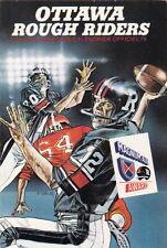 1979 OTTAWA ROUGH RIDERS CFL FOOTBALL POCKET SCHEDULE